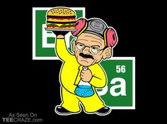 Heisenburger T-Shirt - http://teecraze.com/heisenburger-t-shirt-2/ -  Designed by Buby87     #tshirt #tee #art #fashion #TCRZ #clothing #apparel #BreakingBad