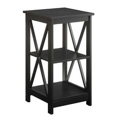 Convenience Concepts Oxford Black End Table On SALE