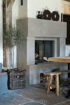 Building A False Chimney Breast To House The Stove Box External Pictures House, Home Fireplace, Fireplace Design, House Styles, House Interior, Rustic Living, Modern Fireplace, Living Decor, Home And Living