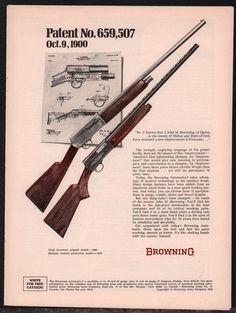 1970 BROWNING Automatic-5 Shotgun Print AD shown w/original 1900 model