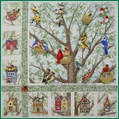 DIY This is cool! Make your own interactive quilt using washers and magnets! What a creative idea! =D .Quiltscapes.: Tree Bird Blog Hop - my stop!