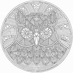Mandala hibou chouette #mandala #mandalas #coloriage