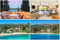 Bella Mare Hotel is located close to Kassiopi village on Avlaki beach. See the photos of a real luxury hotel of Korfu Green Scenery, Corfu, Hotels And Resorts, Vacation, Luxury, Beach, Outdoor Decor, Home, Vacations