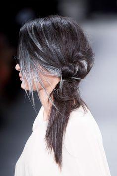hair with grey highlights. love it. @ Nicholas K Fall 2015 #NYFW
