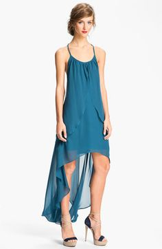 Hailey by Adrianna Papell High/Low Chiffon Racerback Dress available at #Nordstrom