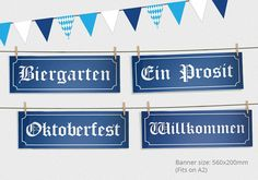 This Oktoberfest Party Sign and Bunting Pack will transform any space into a Munich Beer Hall! Print as many as you require - or to really bring your event to life see our complete Oktoberfest party package below - Prost!