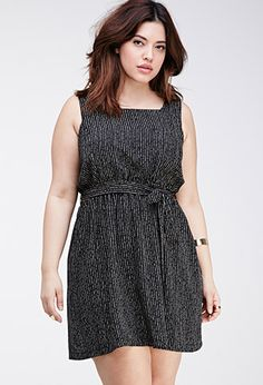 Abstract-Striped Ladder-Back Dress | FOREVER21 PLUS - 2000055566