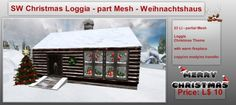 Second Life Marketplace - SW Christmas Loggia - part Mesh - Weihnachtshaus