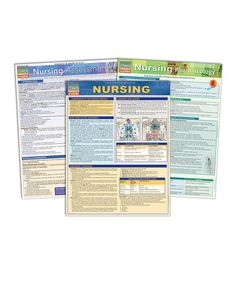 Loving this Nursing, Pharmacology & Assessment Reference Chart Set on #zulily! #zulilyfinds