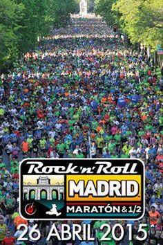 Más de 15mil personas en la Rock n Roll maratón Madrid, media maratón y 10K. Ferial del deporte Expodepor del 24 al 25 de abril 2015 Recogida de dorsales