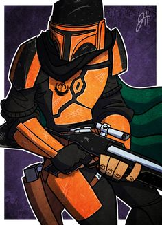 Commish - Nico Fett 01 by JoeHoganArt on DeviantArt Cool Wallpapers Star Wars, Star Wars Wallpaper, D&d Star Wars, Star Wars Humor, Beginner Sketches, Yoda Funny, Star Wars Characters Pictures, Mandalorian Armor, Hunter Outfit