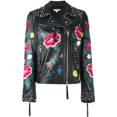 P.A.R.O.S.H. Mistery biker jacket ($1,150) ❤ liked on Polyvore featuring outerwear, jackets, black, biker jackets, rider jacket, motorcycle jacket and moto jacket
