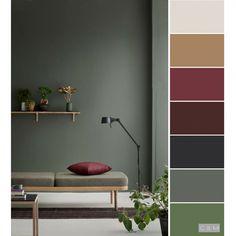 Home Decor Color Schemes + Home Decor Color Schemes - Paint Color Schemes, House Color Schemes, Living Room Color Schemes, House Colors, Interior Colour Schemes, Paint Colors, Colorful Decor, Colorful Interiors, Earth Tone Colors