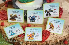 INSTANT DOWNLOAD Skylanders Classroom Valentines Cards