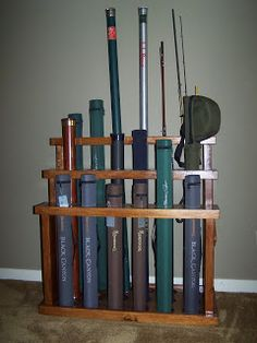 """The Naturalist's Angle: """"D.I.Y."""" Fly Rod Rack"""