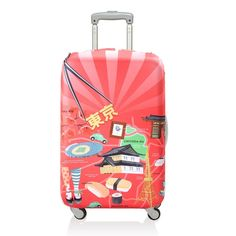 Bring bliss to the baggage claim. You'll earn miles & miles of smiles with a LOQI suitcase cover. Tokyo Night, Pacific Heights, Roppongi, Luggage Accessories, Baggage Claim, Luggage Cover, Online Travel, Travel News, Japan Fashion