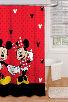 Best Disney Shower Curtains! Discover the best Disney Shower Curtains. We love decorating our bathroom with Disney shower curtains Small Bathroom Window, Bathroom Window Treatments, Boho Bathroom, Bathroom Curtains, Shower Curtains, Bathroom Ideas, Polka Dot Curtains, Patchwork Curtains, Colorful Curtains