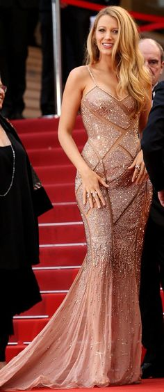 Blake Lively in Atelier Versace attends the 'Cafe Society' premiere during the Cannes Film Festival. #bestdressed