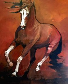 "Peggy Judy, ""Painted Pirouette,"" Acrylic on Canvas, 60 x 48 in Horse Drawings, Art Drawings, Horse Artwork, Equine Art, Western Art, Art Plastique, Community Art, Animal Paintings, Art World"