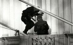 Iranian Embassy Siege in London, another moment in history. I can remember that the BBC interrupted a John Wayne film to bring us live coverage. We were all gob smacked. Until then no one had heard of the SAS and it was the first time we had all seen history as it was happening.