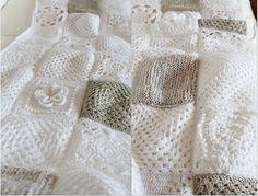 fragola-diamond: Come splendidamente ... granny square cotton blanket