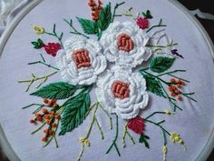 Embroidery Kits Etsy in Embroidery Designs Software yet Embroidery Thread Looping On Top Of Fabric unlike Embroidery Stitches In Hindi Brazilian Embroidery Stitches, Basic Embroidery Stitches, Hand Embroidery Flowers, Flower Embroidery Designs, Hardanger Embroidery, Types Of Embroidery, Embroidery Techniques, Ribbon Embroidery, Floral Embroidery
