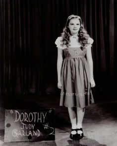 vintage everyday: Vintage Wardrobe Test Shots for Famous Movies Judy Garland in The Wizard of Oz, 1939