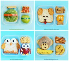 Wanna learn to make these cute lunches? See how easy they are to make! With #EasyLunchboxes containers