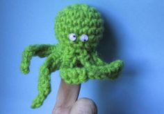10 Finger Puppet FREE Crochet Patterns: Octopus Finger Puppet Free Crochet Pattern