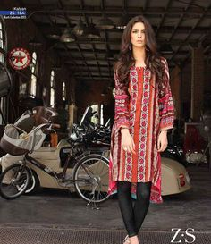 Kalyan embroidered kurtis summer collection 2015 ST-10A