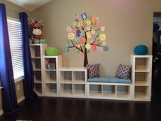 Playroom Organization Coloring Books - Better Homes and Gardens 4 Cube Storage Organizer, Multiple Colors.