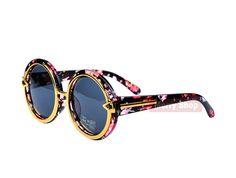 New VINTAGE STEAM PUNK Tops round Fashion steampunk Metal Star Men Retro CIRCLE sunglasses Women