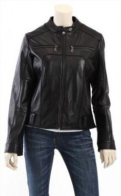 $199.00 - Trendy Biker Leather Jacket