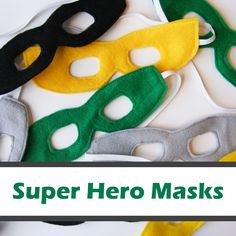 Super Hero Masks - FREE Pattern