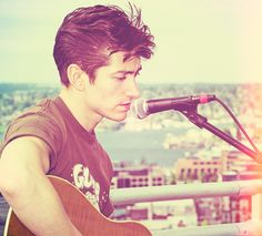 Alex Turner, of the Arctic Monkeys. I have a friend who strangely resembles him, but with lighter hair. Very cool.
