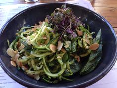 Vegan, Paleo, Kale Pesto, Zuccinni Pasta