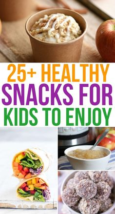 Fill up the kids with these healthy snacks they'll love! Easy To Make Snacks, Snacks For Work, Healthy Snacks For Kids, Healthy Foods To Eat, Healthy Treats, Yummy Snacks, Healthy Eating, Yummy Food, Healthy Recipes