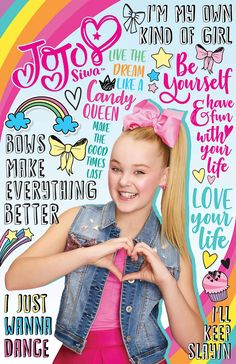 JoJo Siwa Quotes to Live By Infographic 6th Birthday Parties, 9th Birthday, Girl Birthday, Birthday Cards, Jojo Siwa Bows, Jojo Bows, Jojo Siwa Outfits, Jojo Siwa Birthday, Affirmations For Kids