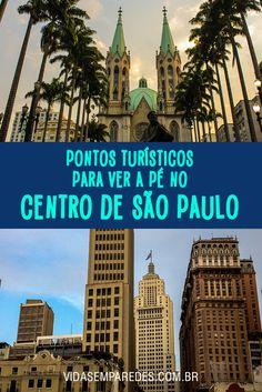 Dicas de pontos turísticos no centro de São Paulo para visitar a pé.
