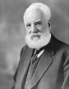 Alexander Graham Bell, inventor of first practical telephone.