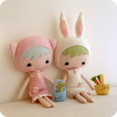 So cute. Gotta find time to purchase these patterns and make them though!