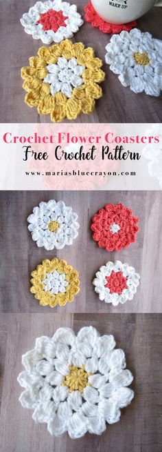Flower coaster pattern.