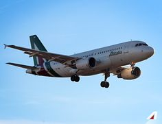 #Alitalia #airbus #A319 #sky #clouds #airport #travel #airline #airplane