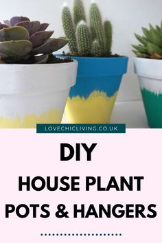 Here are 10 easy DIY macrame plant hangers to help you make even more space for your house plant decor! Decorate your home with indoor plants and jazz them up with these DIY planter ideas. Terracotta pot design ideas to spruce up a boring plant pot. Succulent Planter Diy, Planter Ideas, Diy Planters, Succulents Diy, House Plants Decor, Plant Decor, Potted Plants, Indoor Plants, Pot Hanger