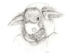 Rabbit in mask Giclee print – Naomi Watkins Art