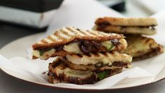 panini with chocolate and brie