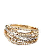 D'Oro Diamond Ring in White & Yellow Gold from  Effy  14 Kt. white and yellow gold/diamond Diamonds= 0.67 ct. t.w WEB ID #: 0150-WZ0K061DD5  Lord & Taylor