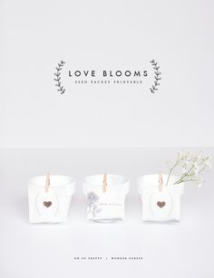 Love Blooms: Seed Packet Printables | Wonder Forest: Design Your Life.
