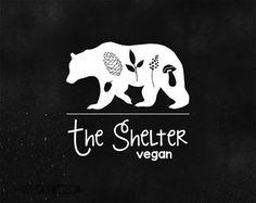 Bear Logo Design Premade. Food Blog Logo. Website by easylogo