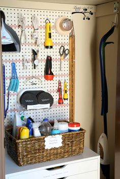 Oh wow! I LOVE this organized utility closet! Seriously, you have to see it!